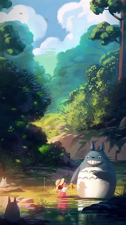 Totoro Iphone Anime Illustration Liang Xing Plus