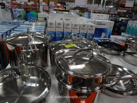 kirkland signature pc stainless steel cookware set