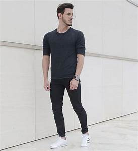 Outfit Men Fashion Men Men Style Adidas Neo all black skinny pants - www.rodrigoperek.com ...