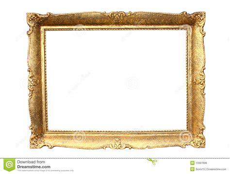 cadre de tableau en bois plaqu 233 par or image libre de droits image 13361696