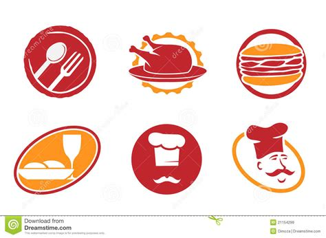 restaurant emblems  symbols royalty  stock images