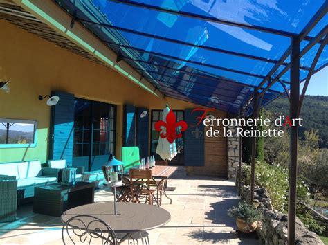 pergola avec toit en verre pergola en fer forg 233 et toiture verre stadip 224 manosque ferronnier var 83 ferronnerie d