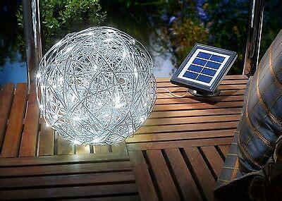 Gartenbeleuchtung Solar Kugel by 3 Led Deko Kugeln Kugelleuchten Silber Beleuchtet