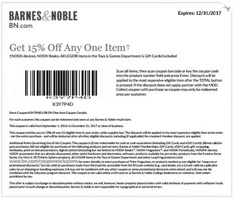 barnes and noble printable coupons barnes and noble coupons barnes nobles promo codes