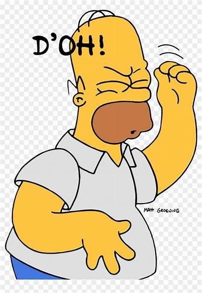 Homer Doh Simpson Mistakes Learn Clipart Card