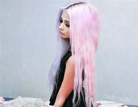 Long Pastel Grunge Hair I Love The Way Half Is A Pale