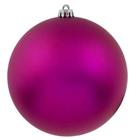 cerise pink shatterproof baubles pack of 4 x 140mm matt