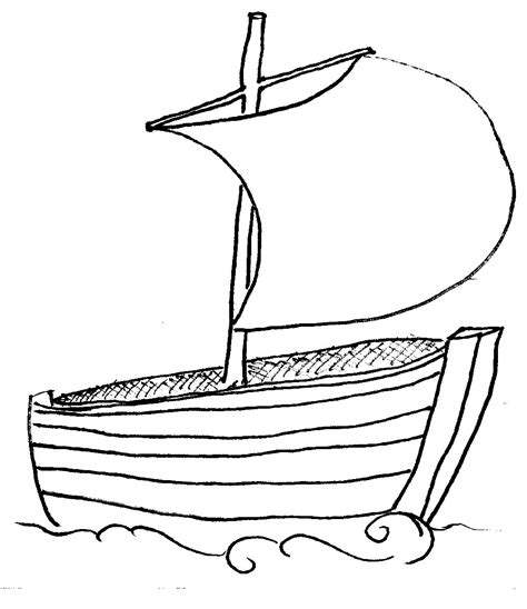 Boat Drawing Outline by Boat Outline Clipart Best