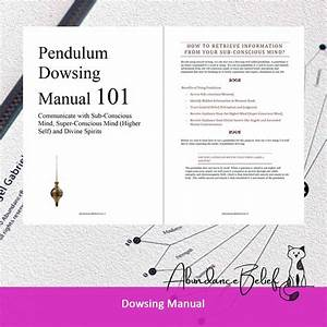 Pendulum Dowsing Manual   Free Sample Charts
