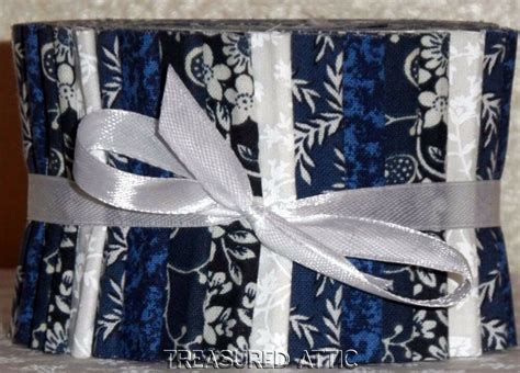 Navy White Quilt by Jelly Roll Fabric 2 5 Quot Quilting Strips Navy Blue White