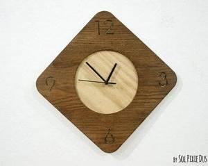 En Bois Simplement Circle Horloge Murale En Bois Horloge