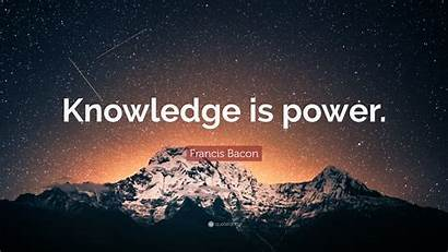 Knowledge Power Bacon Francis Quote Quotes Saturday