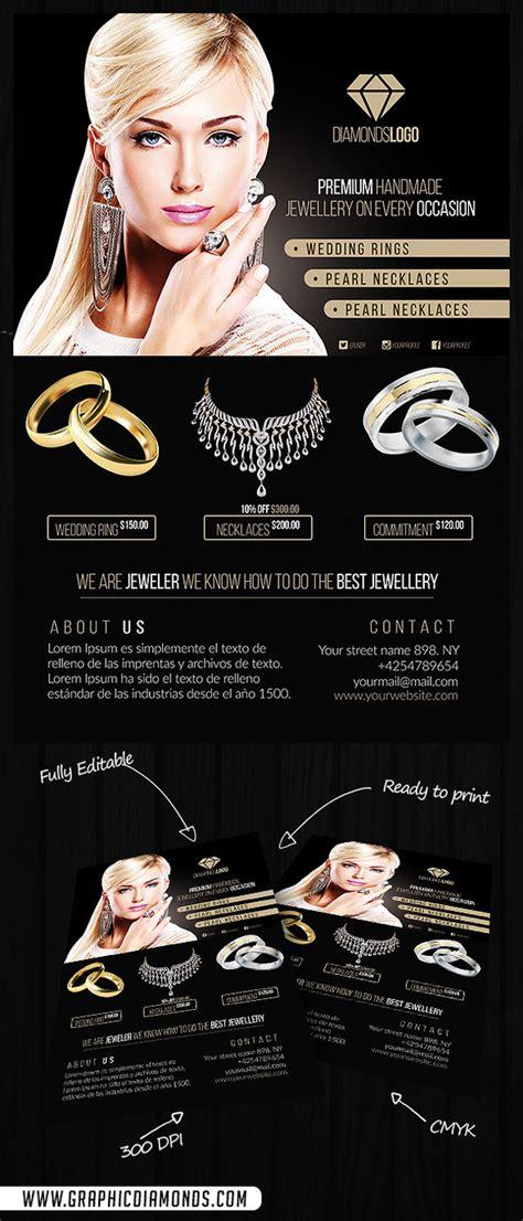 cm jewelry flyer psd template  heroturko