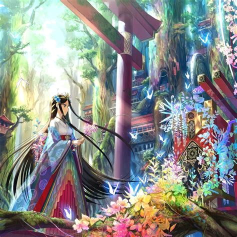 colorful anime colorful anime wallpaper walldevil wallpapers 隹