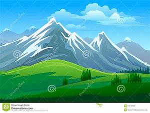 Snow Covered Mountain Clipart - ClipartXtras
