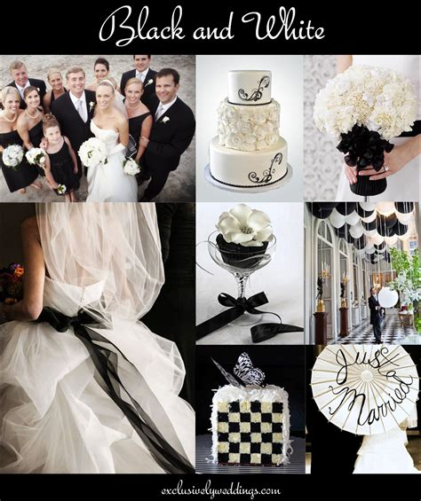 black and white wedding colors