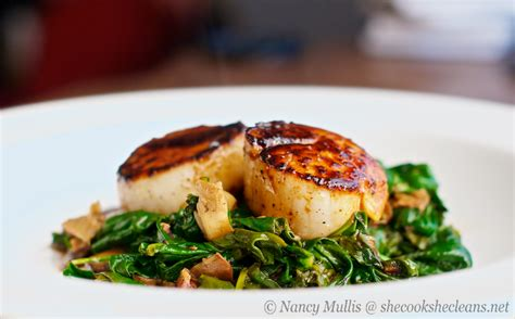 seared scallops seared scallops with apple cider balsamic glaze she cooks he cleans