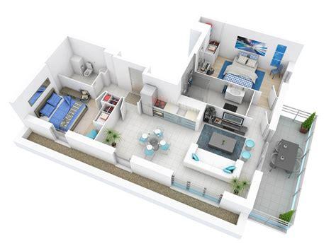 25 More 2 Bedroom 3d Floor Plans by 25 More 2 Bedroom 3d Floor Plans 7 Office Interior Design