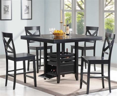 small black dining table set dining room awesome black dining room table sets design