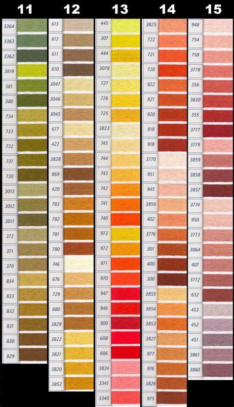 dmc color chart untitled 1 yarntree