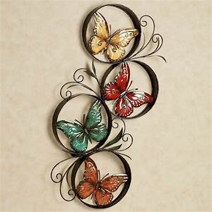 Butterfly jubilee metal wall art for Butterfly wall decor
