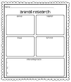 animal report template making lemonade   grade
