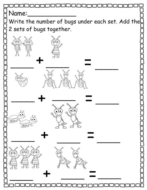 pre k worksheets numbers addition worksheets
