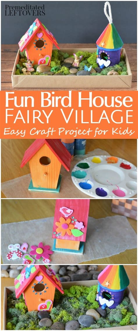 diy bird house fairy garden craft  kids