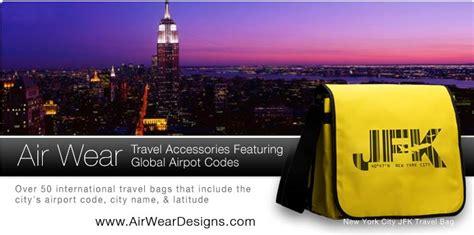 air wear airport code travel bags  shirts notebooks