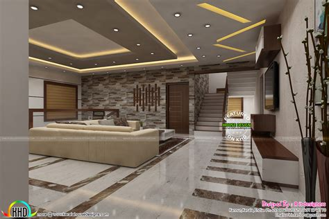 Living Room Interior Kerala by Modern Living Room Kerala House Design Ideas