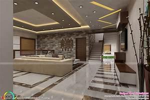 Most modern Kerala living room interior
