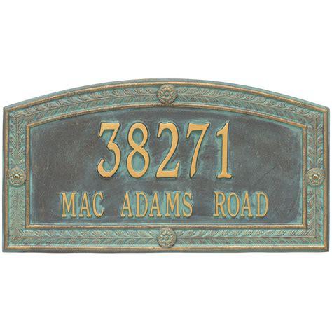 hamilton wall address plaque    wall address