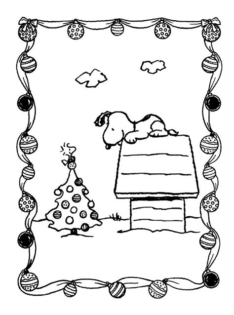 printable charlie brown christmas coloring pages