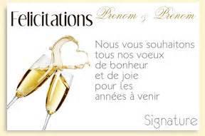 carte de voeux pour mariage carte de felicitations a imprimer pour un mariage sur carte discount