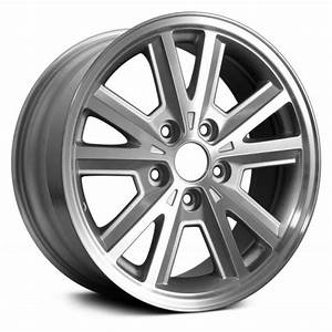 """Replace® ALY03587U10N - Ford Mustang 2007 16"""" Replica 5 Split Spokes Machined and Silver Factory ..."""
