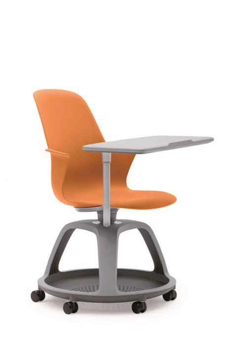 bureau de recensement fauteuil mobile node polypropylène avec tablette de