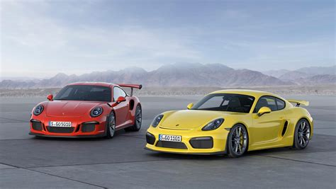 Porsche Cayman Rs by Debut For Porsche Cayman Gt4 And 911 Gt3 Rs