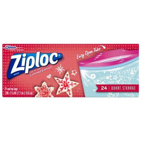 Ziploc Limited Edition Holiday Storage Bags, Quart, 24