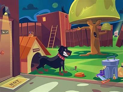 Backyard Cartoon Dribbble Drawing Characters