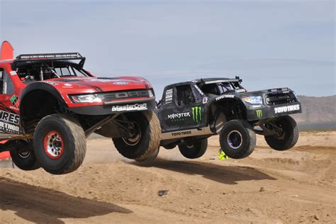 prerunner race truck with trick trophy trucks the mint 400 race makes mad max