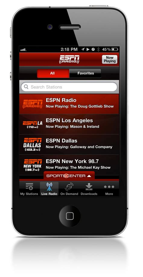 radio app for iphone new espn radio app launches for iphone and ipod