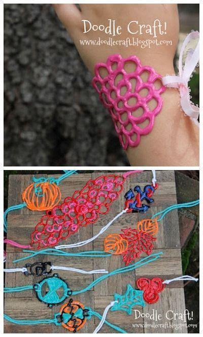 Puffy paint braceletscool!   SecondGradeSquad.com