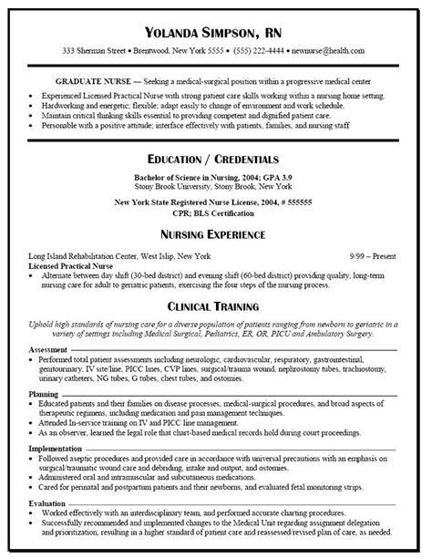 graduate nurse resume  rn nursing resume rn