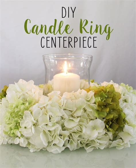 diy candle ring centerpiece   wedding centerpieces