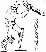 Cricket Coloring Pages Game Colorings Print sketch template