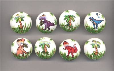 set of 8 dinosaurs palm trees wooden drawer knobs ebay