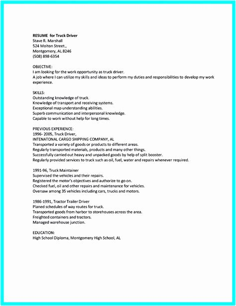 Driver Duties Resume by 6 Cv Templates Driver Free Sles Exles