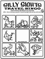 Bingo Travel Coloring Crayola Silly Sights Pages Wallet Print Printable Adult Getcolorings Frame Creativity sketch template
