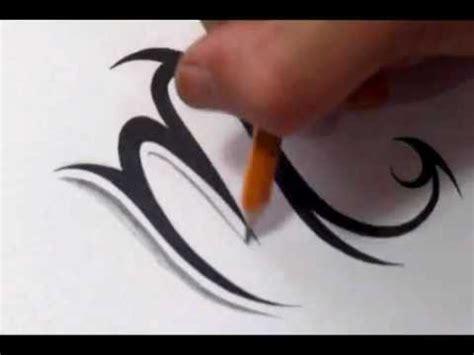 scorpio tattoos   draw  simple tribal star sign youtube