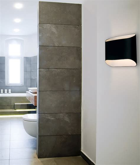 modern interior up down wall light 4 finishes